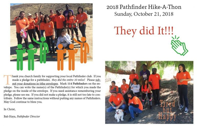 Pathfinder Hike-A-Thon 2018 (Click for larger PDF version)